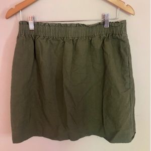 JCrew Army Green Skirt